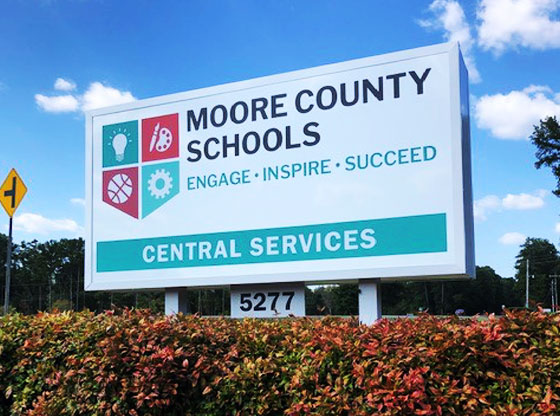 Moore County Schools honored with State Superintendent's Purple Star District Award