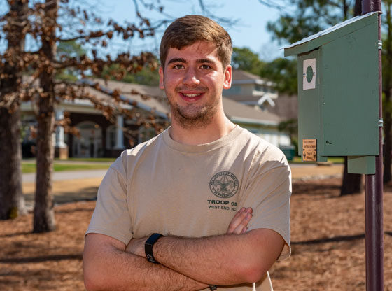 Boy Scout puts heart and soul into Eagle Scout project