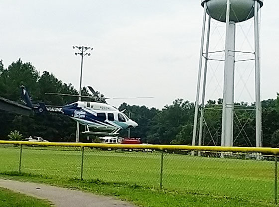 Woman airlifted to hospital after dog attack