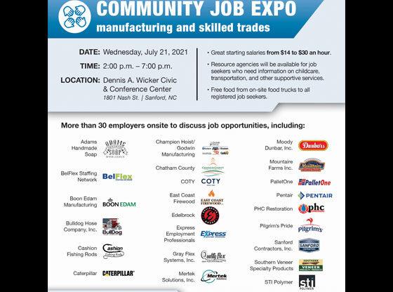 Joint Community Job Expo July 21