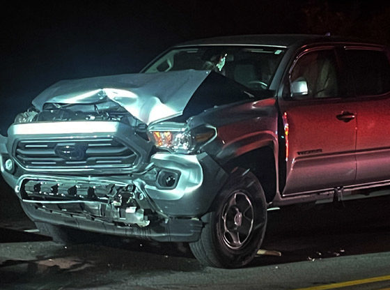 Car rear-ended on opening night of fair